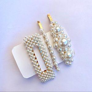 NEW Hair Barrette Pearls